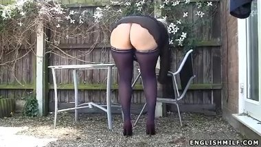 Public outdoor upskirt big ass milf wife in stockings