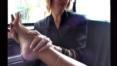 Mature Lesbian Feet In The Back Seat