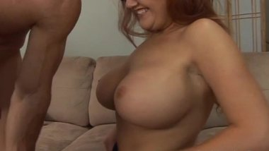 Kitty Lynxx - Great Titties Redhead Fucked On Her Shave Pussy