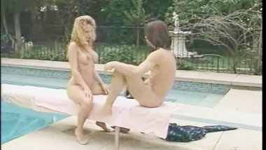 Blonde MILF Ripped By The Pool