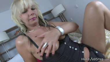 Alex Hairy Milf blowjob from Europe in the bedroom.