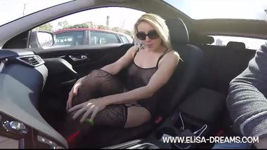 Sexy and dirty in the car in Barcelona