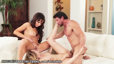 Teen Double Teamed by Hot Older Couple