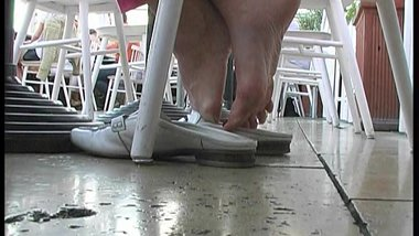 Her Hot Shoeplay With White Mules Is Breathtaking 1