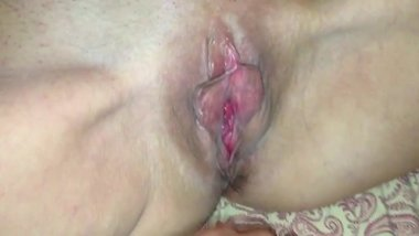 Proudly showing off my wife Katherine's huge natural gaping pussy & titties