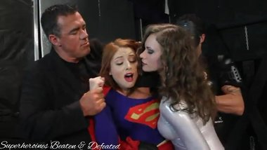 Superior Girl abused & defeated by villains