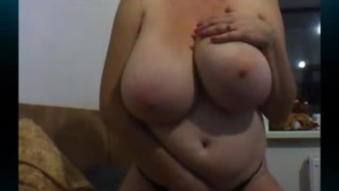 Huge tits amateur russian milf on cam