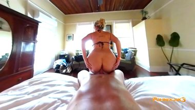 POV Sensual Morning Sex With Hot Tattooed Blonde POUNDCAK3