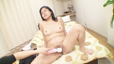 Conservative Japanese grandma shows off her mature body for sex