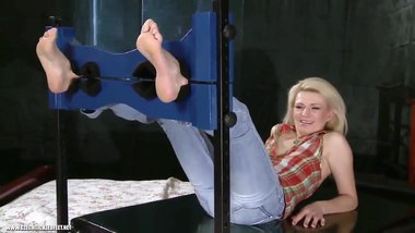 milf radka tickled in the stock