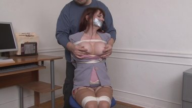 Lorelei chairtied and groped
