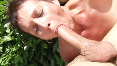 Horny MILFs in summer outdoor DP orgy