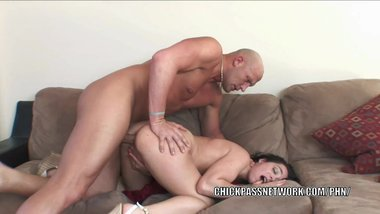 Horny slut Beverly Hills rides a cock and gets a big facial