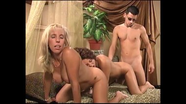 Mature Blonde MILF Plays With A Hot Young Couple - A Carol Cox Classic