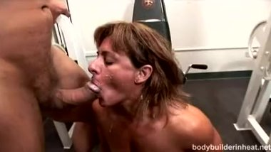Hot, Tanned Body Builder Cori Getting Stuffed