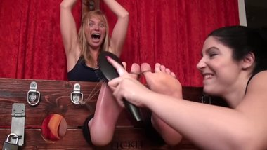milf blond jackie tickle torture