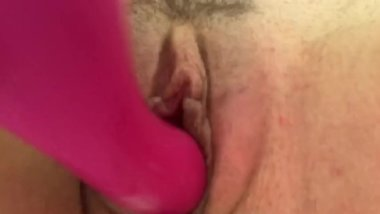 Wife's ultra tight pussy toyed to loud orgasm