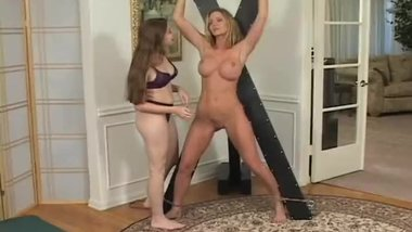 Amber Michaels Tickled Naked On The Cross