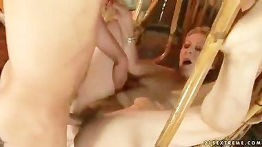 Mature MILF has Nasty Sex with Boy