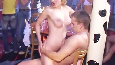 Teens MILFs fuck in Public sex show