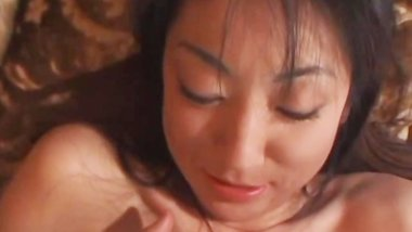avmost.com - Huge titted Japanese milf handling a stiff and loaded mushroom